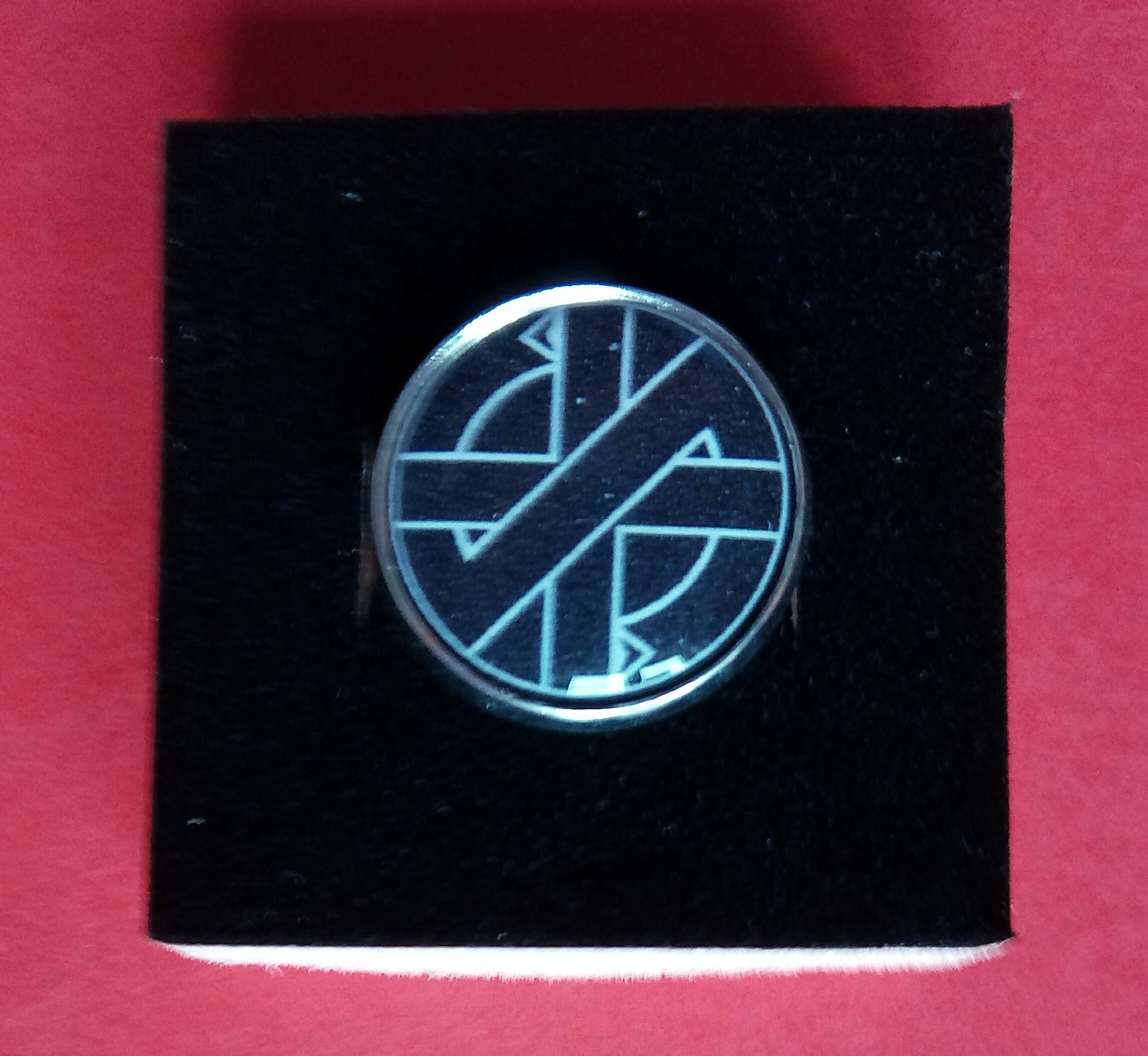 Crass Silver Plated Pins Steve Ignorant